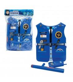 Игровой набор профи жилет полицейского с аксессуарами 1Toy т10488