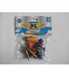 Игровой набор из 8 самолетиков школа пилотов 1Toy т10493