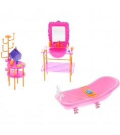 Набор мебели для кукол красотка ванная 1Toy т54508