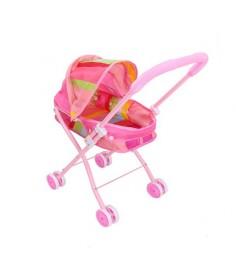 Прогулочная коляска для куклы красотка люлька 1Toy т58757