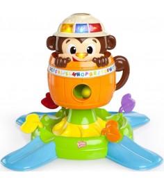 Развивающая игрушка Bright Stars Обезьянка в бочке