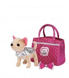 Плюшевая собачка Chi Chi Love Simba Чихуахуа Гламур с розовой сумочкой и бантом 20 см 5892280