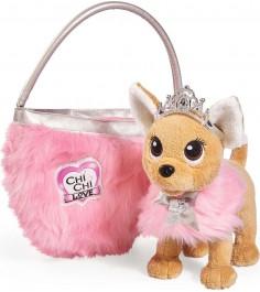 Собачка Chi Chi Love принцесса с пушистой сумкой 5893126