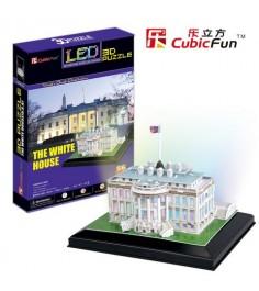 3D Пазл Cubic Fun Белый дом с иллюминацией (США) L504h