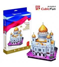 3D Пазл Cubic Fun Храм Христа Спасителя (Россия) MC125h