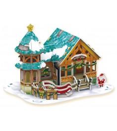 3D пазл Cubic Fun Рождественский домик 3 P649h с подсветкой