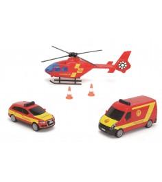 Набор из машинок и вертолета Dickie 3314927