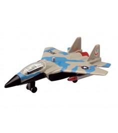 Игрушка Истребитель Dickie серый с голубым 3553006