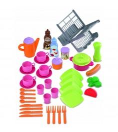 Игрушка для кухни Ecoiffier Набор сушилка д/посуды+посуда 2619