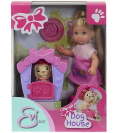 Кукла Evi Love Еви с собачкой в домике 5735867