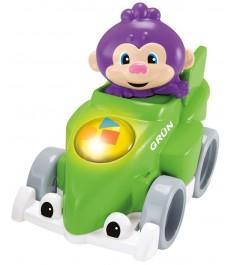 Игрушка Fisher Price Друзья на гоночных машинках Обезьянка на зеленой машине DHV...
