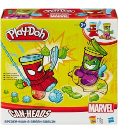 Игровой набор пластилина Hasbro Play Doh фигурки герои Марвел Человек Паук и Зеленый Гоблин B0594