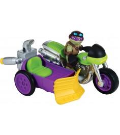 Фигурка Half Shell Hero Донни с мотоциклом 6 см 96702