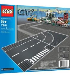 Lego City Т-соединения и изогнутые рельсы 7281