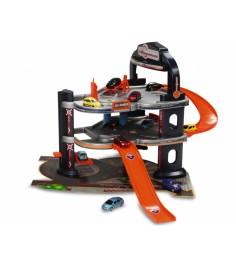Игровой набор для машинок подземная парковка и 5 машинок Majorette 205601