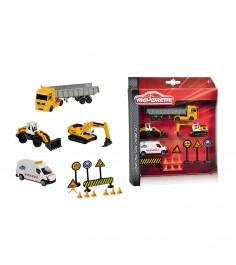 Набор строительной техники Majorette дорожные знаки 2057971