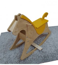 Лошадка качалка Можга Красная Звезда желтый