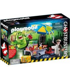 Охотники за привидениями Playmobil Лизун и торговая тележка с хот-догами 9222pm