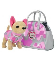 Собачка Chi Chi Love Чихуахуа Розовый камуфляж с сумочкой 5890597