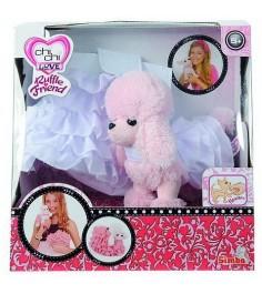 Розовый пудель Chi Chi Love в белом платье в комплекте с белым клатчем 5891587...