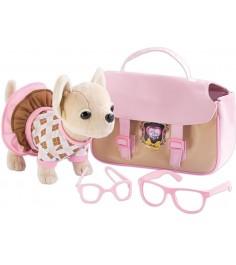 Плюшевая собачка Chi Chi Love с сумкой и очками 5894837