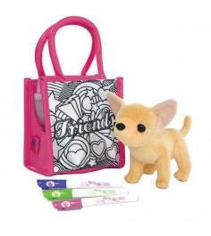 Собачка Chi Chi Love Чихуахуа с сумочкой для раскрашивания и 3 фломастера 5895264