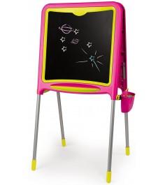 Детский мольберт Smoby двухсторонний складывающийся розовый 410303