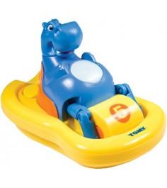 Игрушка для ванной TOMY бегемот на катамаране E2161