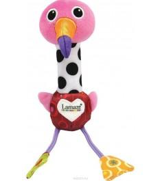 Мягкая развивающая игрушка TOMY веселый розовый фламинго LC27611