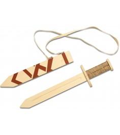 Деревянное оружие Три богатыря Меч богатырский в ножнах ТБ-005