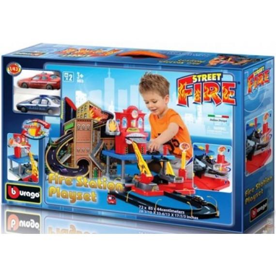 Игровой набор для машинок Bburago пожарная станция 18-30043