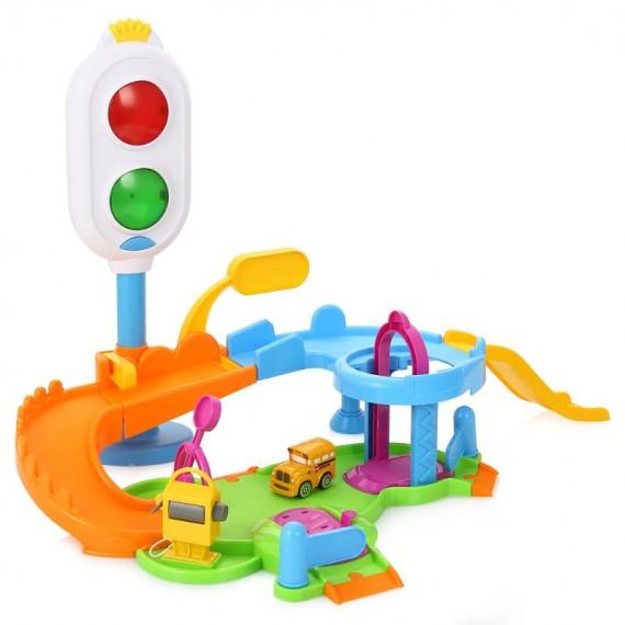 Игровой набор для машинок Bburago светофор с парковкой 18-30111