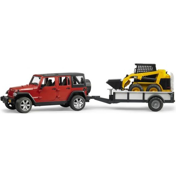 Внедорожник Jeep Wrangler Unlimited Rubicon c погрузчиком CAT Bruder 02-925