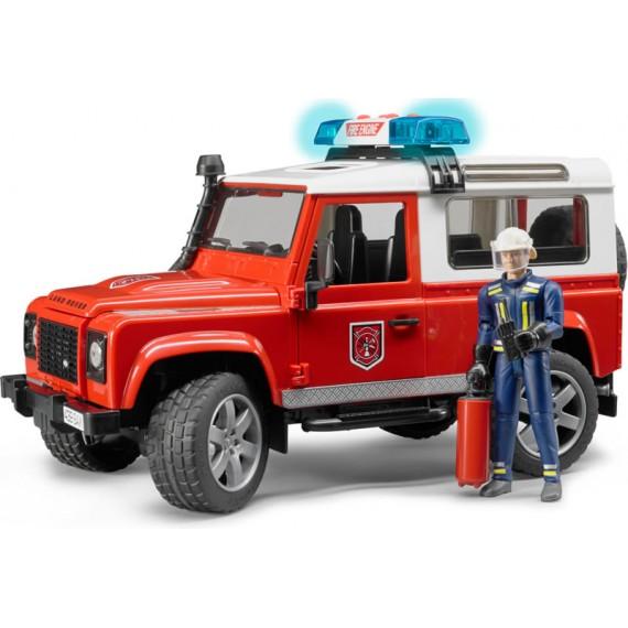 Внедорожник Land Rover Defender Station Wagon Пожарная с фигуркой Bruder 02-596