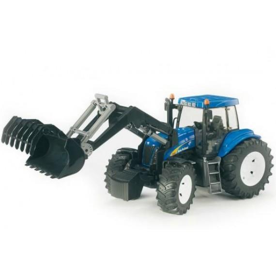 Трактор New Holland T8040 с погрузчиком Bruder 03-021