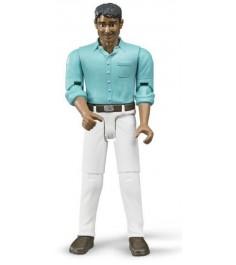 Фигурка мужчины мексиканец в белых джинсах Bruder 60-003