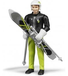 Фигурка лыжника с аксессуарами Bruder 60-040