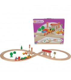 Деревянная железная дорога Eichorn в виде восьмерки 100001202