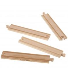 Набор прямых элементов деревянной железной дороги Eichorn 100001411