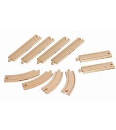 Набор элементов деревянной железной дороги Eichorn 100001415