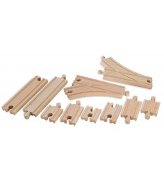 Дополнительный набор деревянного ж/д полотна Eichorn большой 100001418