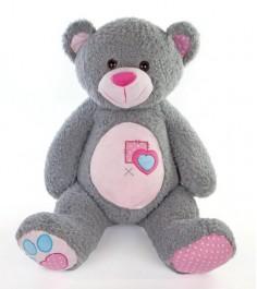 Мягкая игрушка Fluffy Family мишка тошка 60см серый 681091