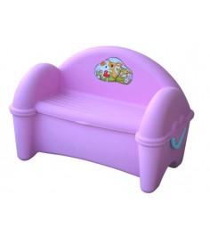 Пластиковый стульчик для улицы скамейка ящик 379 Marian Plast