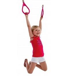 Пластиковые гимнастические кольца Можга розовые