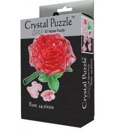 Crystal puzzle роза красная 90113