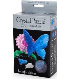 Crystal puzzle бабочка голубая 90122