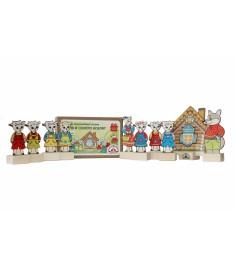 Набор персонажи сказки волк и семеро козлят Краснокамская игрушка н-12