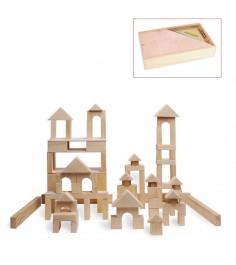 Деревянный конструктор Paremo 85 деталей неокрашенный PE117-3