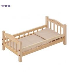 Кроватка для кукол PAREMO бежевый текстиль PFD116-01