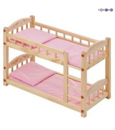 Двухъярусная кроватка для кукол PAREMO розовый текстиль PFD116-04